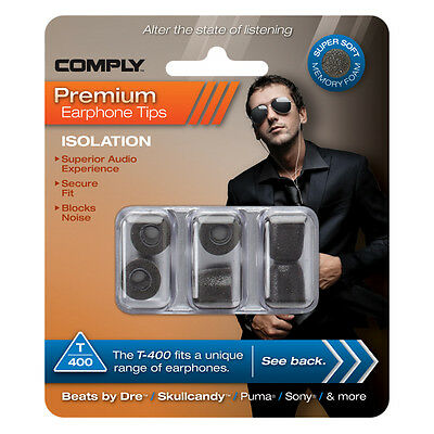 Comply Foam Ear Tips Isolation T-400 - 3 Pairs - Official UK distributor