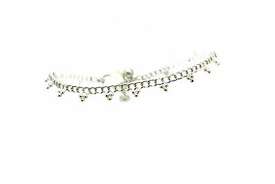 Simple Silver Ankle Chain Anklet Indian Payal Foot Chain Single Or Pair (3/1)