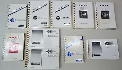 Gm Cadillac Lot Of 10 Assorted 1992-1996 Owner's Owners Manual / Guide Set
