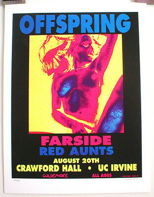 OFFSPRING POSTER, by M.GETZ, 1994, limited edition #152/400, NEAR MINT