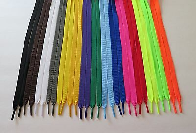 "FAT FLAT Skateboard Athletic 45 54 Inch Sneaker SHOELACES (1/2"" Width) shoe lace"