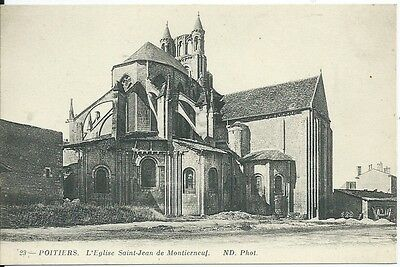 CPA -86 -  POITIERS - Eglise Montierneuf
