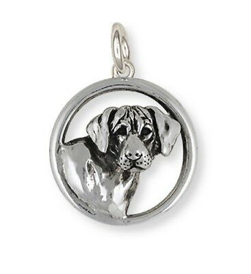 Solid Sterling Silver Rhodesian Ridgeback Dog Charm Jewelry  RDG3-C