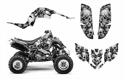 Raptor 660 graphics Yamaha 660R deco sticker kit #5555 Metal Boneyard  Skulls