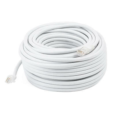 75FT White High Quality Cat6 550MHz UTP RJ45 Ethernet Bare Copper Network Cable