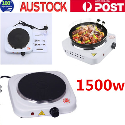 AU Stock Electric Single Hot Plate Cooktop Portable Hotplate Cooker Home Caravan