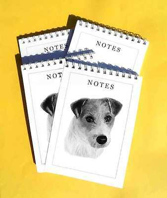 Jack Russell Terrier Dog Pack of 4, A6 Notepads Gift Set