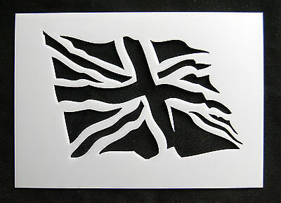 Reusable Flying Union Jack Airbrush Painting Stencil for Sign Wall Floor Crate