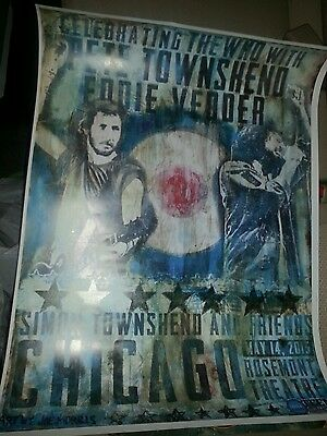 Pearl Jam Poster The Who Eddie Vedder Pete Townshend
