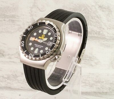 Silicone rubber divers deployment watch strap Free pins and tool #1 Smartwatches