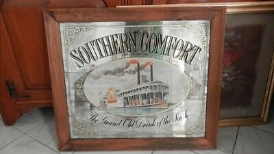 Vintage Sign SOUTHERN COMFORT Steamboat Mirror The Grand Old Drink of the South