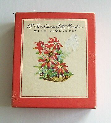 Vintage Christmas Gift Cards Notes Unused In Box 9 Assorted
