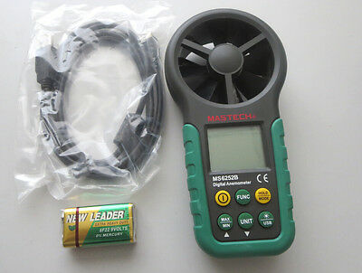 MASTECH MS6252B Digital Anemometer Air Wind Speed Velocity Meter