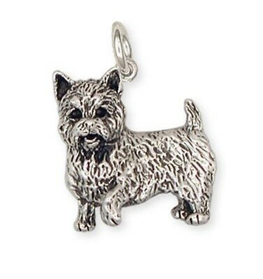 Solid Sterling Silver Norwich Terrier Charm Jewelry NT1-C
