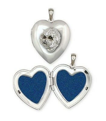 Bichon Frise Photo Locket Sterling Silver Dog Jewelry BC1-LP