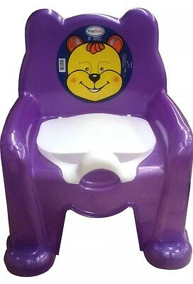 Child Toilet Seat Purple Potty Training Seat Chair Removable Lid Kids Baby New