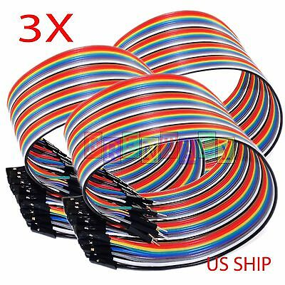 40pcs 20cm 2.54mm Male to Female Dupont Wire Jumper Cable for Arduino Breadboard