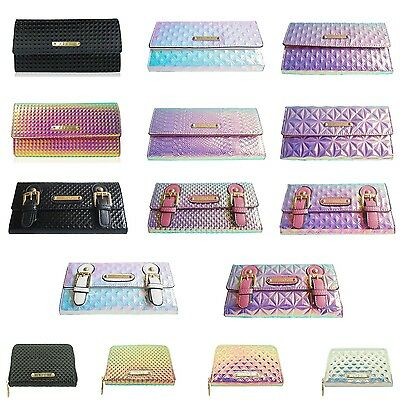 Ladies Girls LYDC Holographic Wallet Purse Clutch Bag