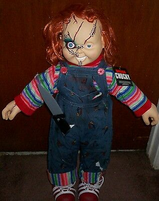 "Chucky Lifesize doll 24"" with tag and knife Bride of Chucky Good Guy figure New"