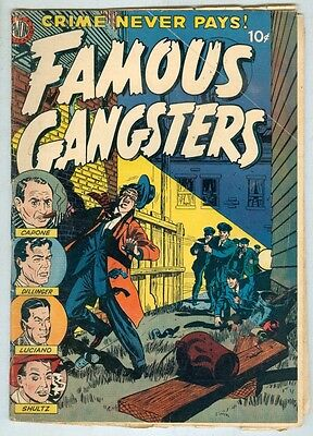 Famous Gangsters #1 April 1951 G+ First issue, Capone, Dillinger, Luciano, Shult