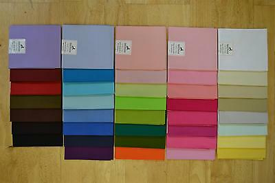 100% Cotton Fabric, Fat Quarters, Plain Solid, craft, quilting, bunting.