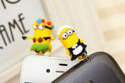 Mobile Phone Anti Dust Plug 3.5mm Despicable Me Minions Plug Cover Cell Phone