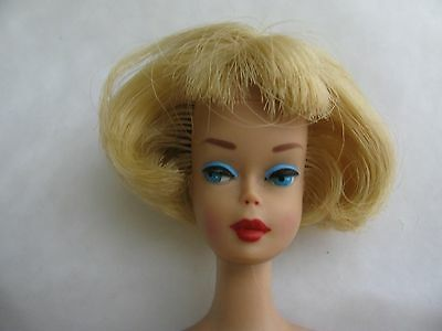 Vintage Pink Vinyl Side Part Blonde American Girl Barbie in Golden Glory outfit