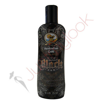 Australian Gold Sinfully Black 15x Dark Bronzing Lotion Sunbed Cream 250ml