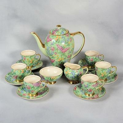 Empire Lilac Time Chintz Demitasse Coffee Set - Ca. 1930's