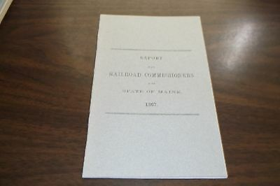 1867 State Of Maine Railroad Commissioners Report Reprint