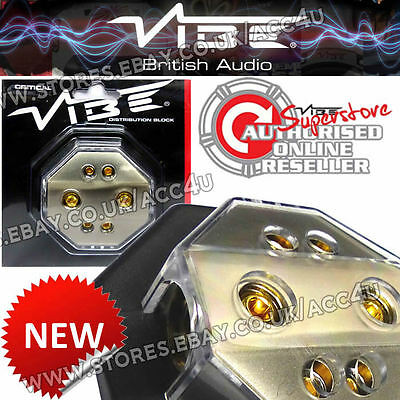 Vibe Audio DB6 12v Car Non Fused 4 Way Amplifier Amp Power Distribution Block