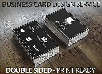 Business Card Design - (Double Sided) - Professional Bespoke Design Service.