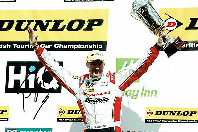 Gordon SHEDDEN SIGNED AUTOGRAPH British Touring Car 12x8 Photo AFTAL COA