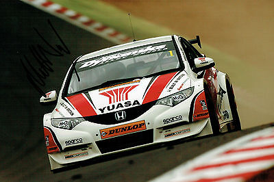 Matt NEAL SIGNED AUTOGRAPH British Touring Car Honda Racing 12x8 Photo AFTAL COA