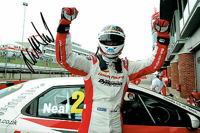 Matt NEAL SIGNED AUTOGRAPH British Touring Car Honda WINNER 12x8 Photo AFTAL COA