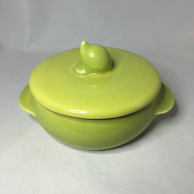 Gabriel Pasadena Lime Green Individual Casserole Bowl with Lid Winfield