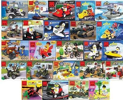 Lot of 20 kinds Mini sets Building Toys all new bricks City Police series New.