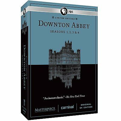 Downtown Abbey DVD Complete Seasons 1 2 3 4 (2014) 1-4 PBS * Brand New * 12-Disc