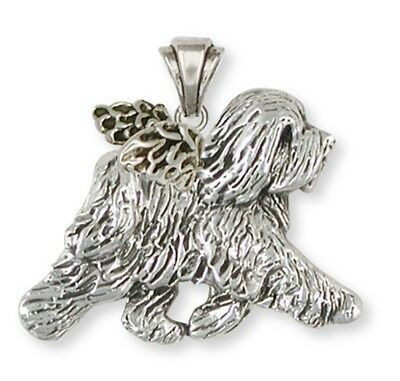 Sterling Silver Tibetan Terrier Angel Jewelry -TTRAP