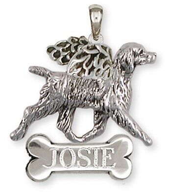 Personalized Sterling Silver Brittany Angel Pendant Jewelry - BR6-ANP