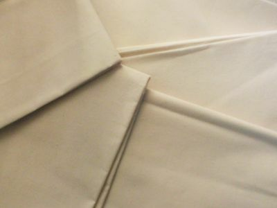 Unbleached Calico Fabric Remnants Various Sizes Lengths 100% Cotton Sewing Craft