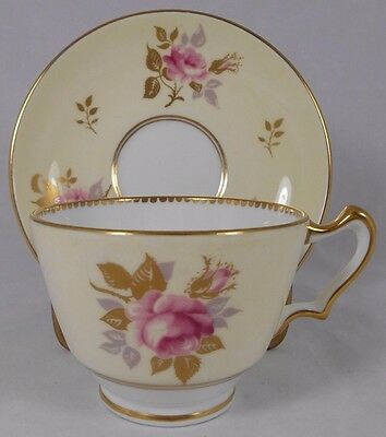 Staffordshire Fine Bone China Crown Cup and Saucer Made in England