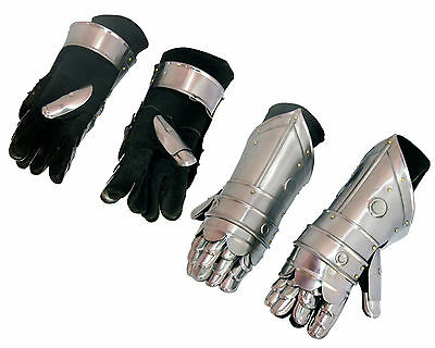 Medieval Gauntlets Armor Metal Plate Pair Set of 2 Gloves Knight*