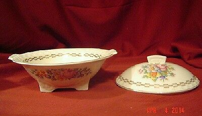 VINTAGE TAYL0R SMITH AND TAYLOR SERVING DISH W/ LID  Made in USA