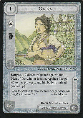 Galva Middle Earth The Wizards  CCG bb lim.Edition Mint/N.Mint 1995 ME06