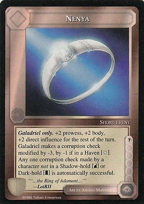 Nenya Middle Earth The Wizards CCG lim. Edition bb Mint/N.Mint 1995 ME19