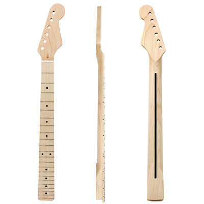 Maple Electric Guitar Neck for ST Parts Replacement 22 Fret Rosewood Inlaid Back