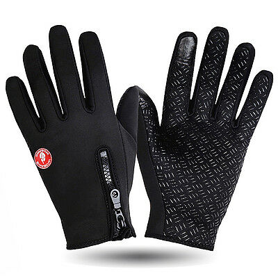 New Black Mens Winter Outdoor Sports Cycling Bike Bicycle Full Finger Gloves