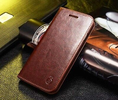 For iPhoneX XSMax XR 5 6S 7 8 Genuine Real Leather Wallet Holder Flip Phone Case