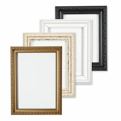 Ornate Shabby Chic Picture frame photo frame poster frame  White Gold or Black